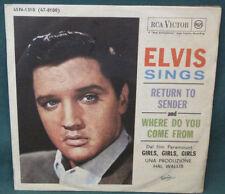 Elvis Presley Return To Sender 45 W/ Sleeve 45N 1310 Italy