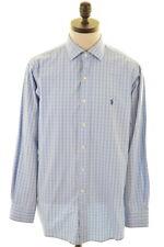 Polo Ralph Lauren Camiseta para hombre Talla 42 16 1/2 grandes de múltiples cheque de algodón