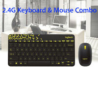 Wireless Keyboard and Mouse Logitech MK240 Combo for Laptop Desktop USB Receiver