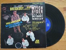 MITCH RYDER AND THE DETROIT WHEELS signed BREAKOUT! 1966 Record / Album COA