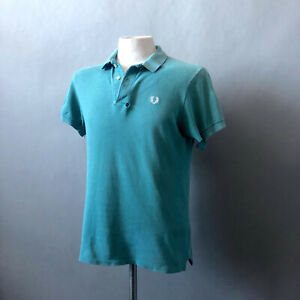 Fred Perry 70s 1980s Vintage Polo Shirt Green Northern Soul Tennis M L Shredded
