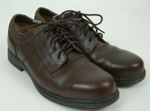 Red Wings 9D Steel Toe Oxford Work Shoes 6663 Electrical Hazard Brown Leather