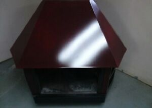 Vintage Preway Wood Stove Fireplace - Burgundy in Color. Excellent condition