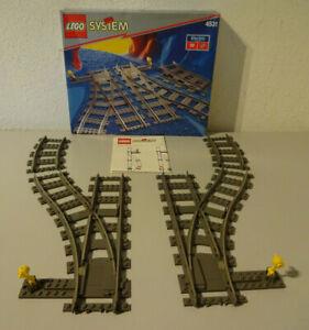 (F15) Lego 4531 Weichen Rechts & Links Schienen MIT OVP 9Volt Eisenbahn