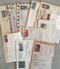 LOTTO DI 11 Buste/cartoline Viaggiate ANNI 50'' Con Valori Isolati E Differenti