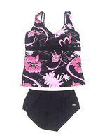 Fashy Bademoden swimwear Set bottoms 10 & top 10 bikini pink pattern floral