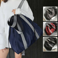 Convertible Nylon Shoulder Bag Tote Drawstring Backpack Large Purse Sport Bag