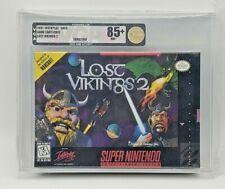 The Lost Vikings 2 Super Nintendo SNES WATA VGA Grade 85+ Gold Sealed New H-Seam