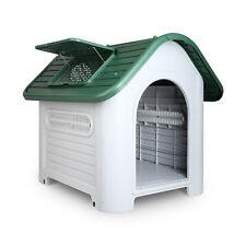 Pet Dog Kennel Weatherproof Plastic Outdoor Indoor Puppy Garden House Large 76cm