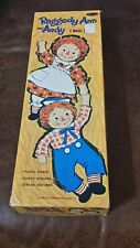 Raggedy Ann & Andy 1968 Magic Paper Dolls Orig Box Vintage #4740 Nearly Complete