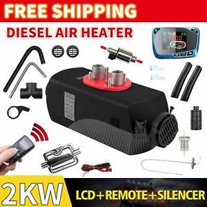 12V 2KW Diesel Air Heater Tank Remote Control Thermostat Caravan RV Pickup AU