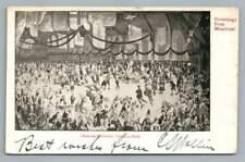 Skating Carnival~Victoria Rink MONTREAL Quebec~Antique Ice Skating Postcard 1908