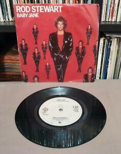 """ROD STEWART Baby Jane / Ready Now 1983 UK 7"""" 45rpm - W 9608"""