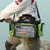 1pc Fishing Tackle Bag Accessories Lure Bag Multi-Pocket Shoulder Bag Waterproof