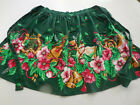 Christmas Apron Musical Floral Pattern Handmade 1/2 Apron Style