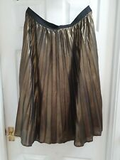 Size 20 Gold Midi Pleated Skirt Bnwt From Primark