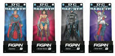 DC UNIVERSE REBIRTH  COMPLETE FIGPIN SET OF (4) ENAMEL FIGUIRE PIN (RARE) TY302
