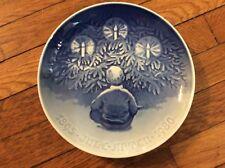 "Bing & Grondahl B& G 1980 Christmas Plate ""The Yule Tree"" 9"" Blue & White"