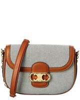 Celine Medium Maillon Triomphe Canvas & Leather Shoulder Bag Women's