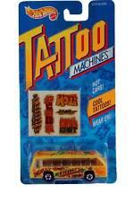 1993 Hot Wheels Tattoo Machines Bus Boys School Bus 3502