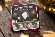 Año nuevo tarjeta de saludos novedad Rude Divertido Broma Humor Navidad Gin membresía XS09