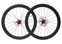 Disc brake Carbon Wheels Clincher Tubeless Road Bicycle 700C Floating Rotor 55mm