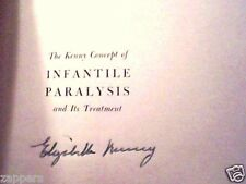 RARE-SIGNED-Sister Elizabeth Kenny~POLIO-concepts Infantile Paralysis &Treatment