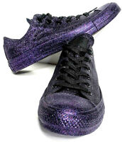 Converse Purple Sparkle Glitter Womens All-Star OX Chuck Taylor Low Size 9 NEW