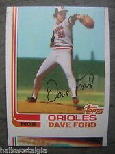 1982 Topps Ron Leflore Wrong Front Card-Orioles Dave Ford on Front/Leflore Back