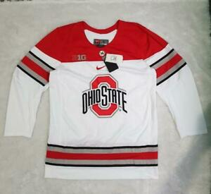 Men's Nike NCAA Ohio State Buckeyes Replica Team Hockey Jersey White sz S M L XL