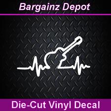 Vinyl Decal ... GUITAR Heartbeat Pulse Wave ... Car Laptop Sticker Vinyl Decal