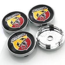 4x Nabenkappen Nabendeckel Fiat Abarth Skorpion Emblem Rad-Kappen Felgen-Deckel