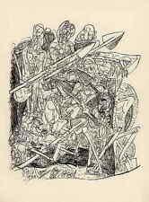 Max BECKMANN - FAUST 3 GRAVUREs sur BOIS originales 1957 EXPRESSIONISME ALLEMAND
