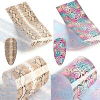Charming Sexy Mixed Design Animal Snake Nail Art Stickers Nail Foils Starry Sky