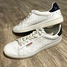 New listing Superga Sport Ivan Lendi Competition Mens White Leather Tennis Shoes Size 10.5