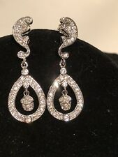 Kate Middleton Acorn Wedding Earrings with Natural Diamond Pave #057