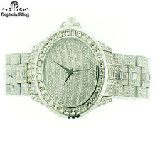 MENS ICED OUT WATCH BY ICE NATION /CAPTAIN BLING WATCH SET #22 FULL OF ICE -RHD