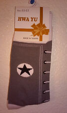 * 4 Men Guys Gray Teal SOCKS Cotton Converse Cowboys Sneaker Novelty Adult Shoe
