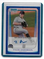 2011 Bowman Chrome Prospects Tyler Anderson RC Auto Blue Refractor/150