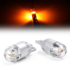 2X T10 2SMD 3030 W5W 194 168 LED Reading License Plate Light DRL Side Lamp Amber