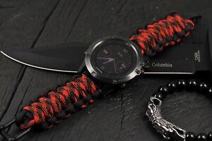 Garmin Watch Strap 6 6S 6X Pro 5 5S 5X 3, Red Best Paracord Garmin Watch Band