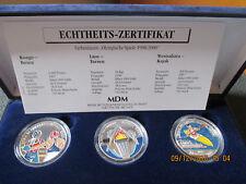 Farbmünzen Kongo Laos Westsahara 550St. Olympische Spiele 1998/2000 PP 999Ag