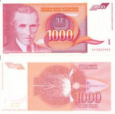 Jugoslavia/YUGOSLAVIA - 1000 Dinara 1992 UNC Pick 114
