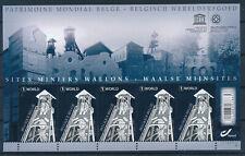 [B83] Belgique 2014 - N°4429** - Sites Miniers - Petit Feuillet de 5 Timbres
