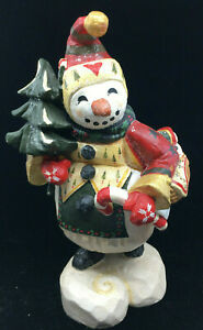 "Snowman Figurine Christmas D Denise Calla House of Hatton 1997 14"" Vintage RARE"