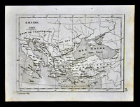 c 1835 Levasseur Map - Greek Empire  Holy Roman - Greece Turkey Black Sea Italy
