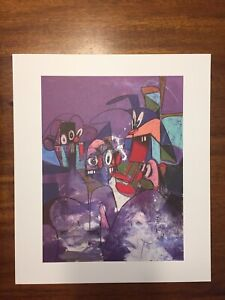 "George Condo Print ""COMIC RELIEF"" Drawing Paintings 2011 Kaws Retna Wes Lang Art"