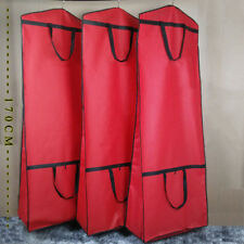 Red Wedding Dress Gown Frock Garment Dust Cover Bag Storage Carry Protector FS