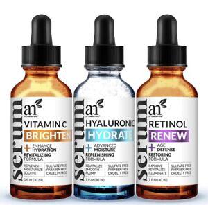 ArtNaturals Anti-Aging-Set with Vitamin-C Retinol and Hyaluronic-Acid 3PK. B4