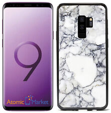White Marbel Print For Samsung Galaxy S9 Plus + 2018 Case Cover